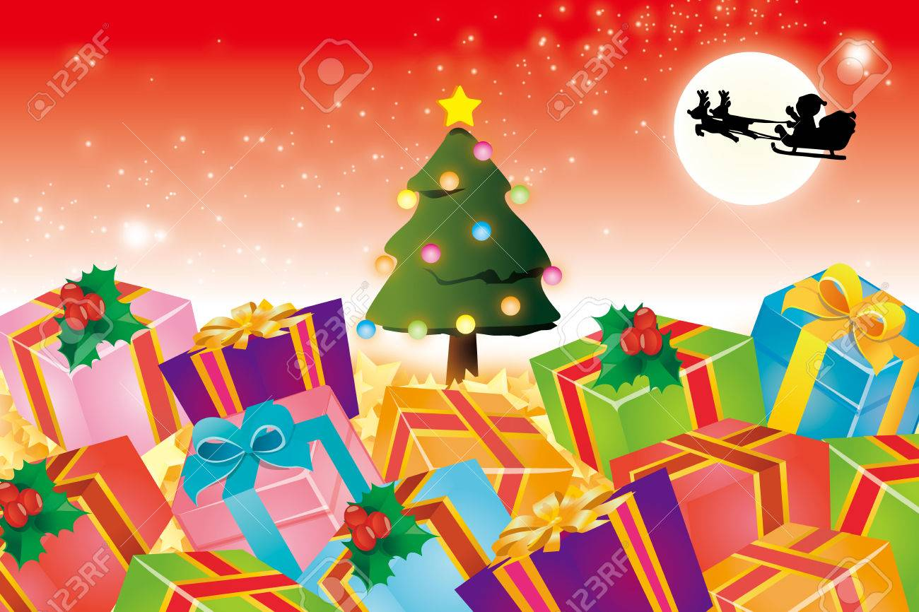 Background Material Wallpaper Christmas Gift Christmas Present Stock Photo Picture And Royalty Free Image Image 33816884