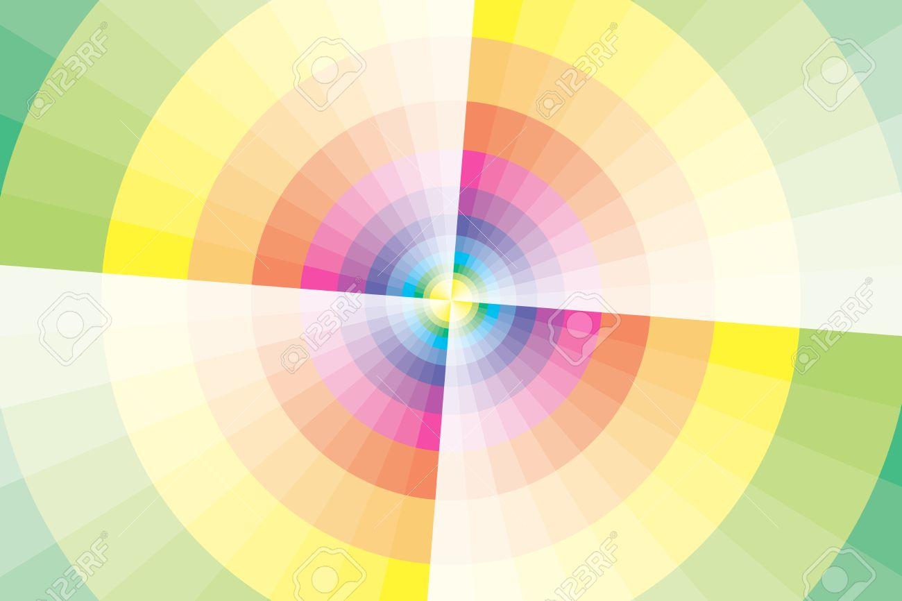 素材壁紙 虹色の円と風車 虹 カラフルな背景の壁紙 販売促進