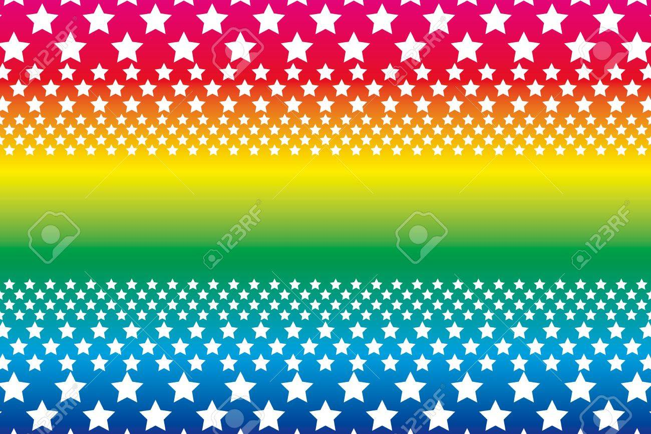 Background Material Wallpaper, A Large Number Of Sta, Rainbow ...