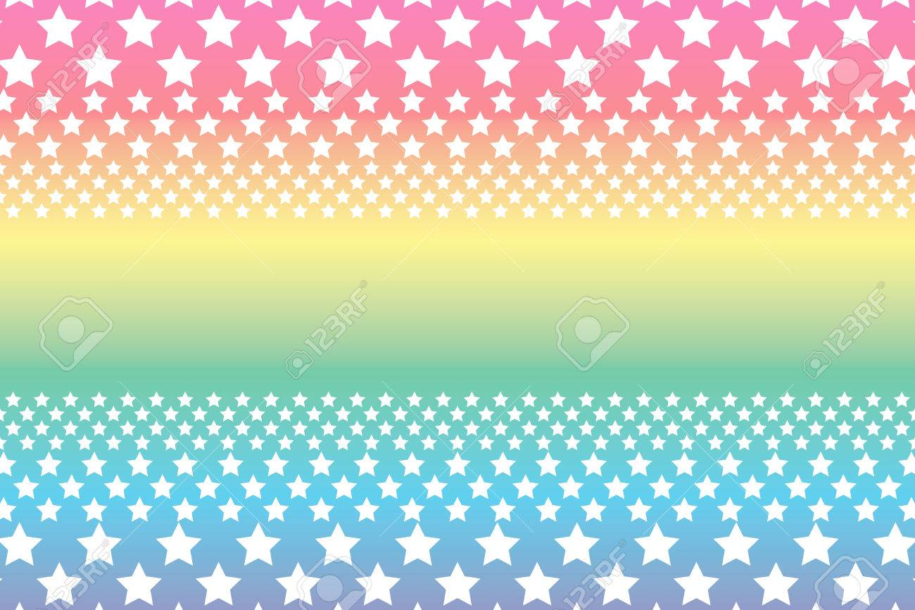 Background Material Wallpaper, A Large Number Of Star, Rainbow ...