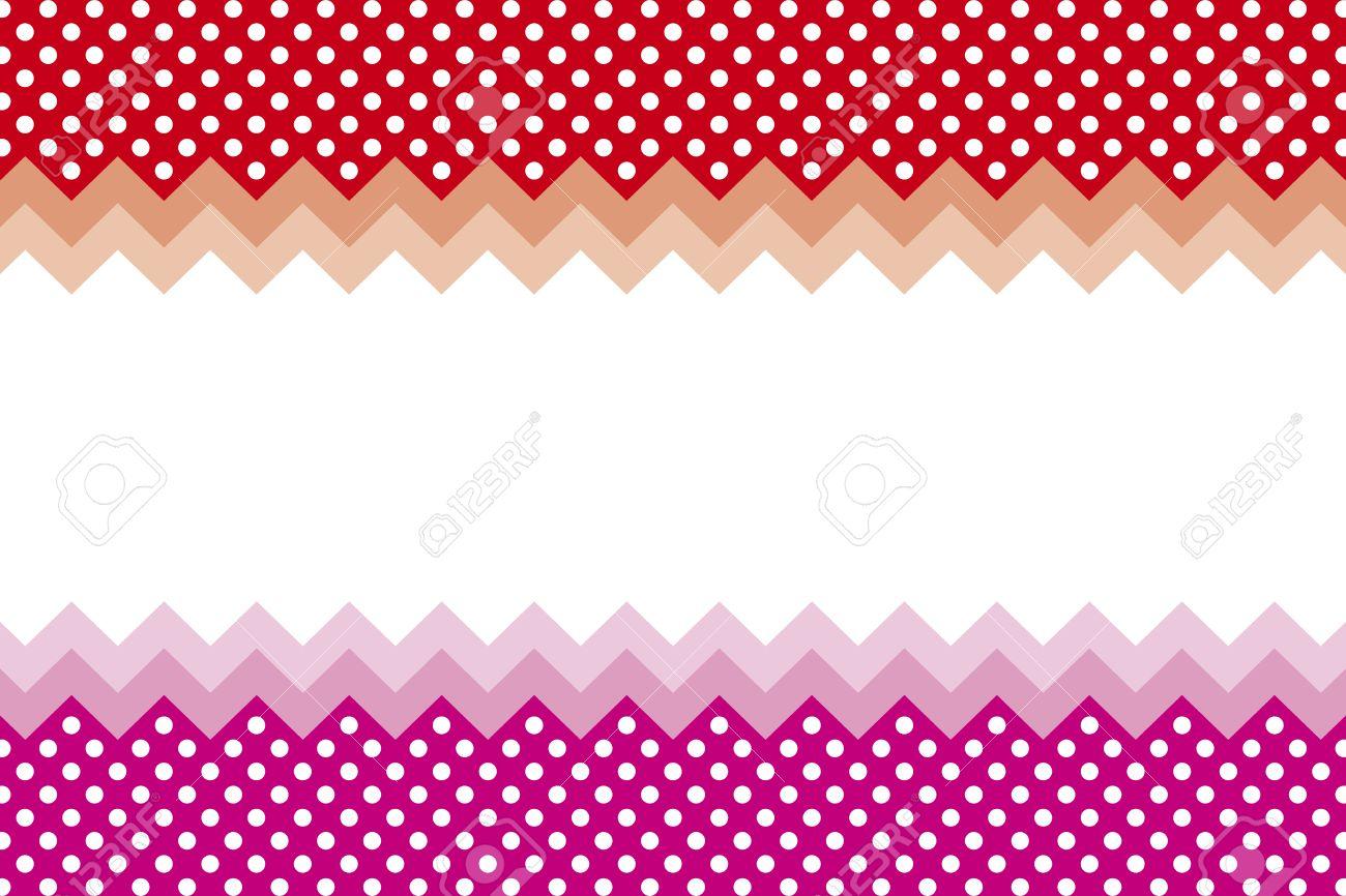 Background Wallpaper Material Polka Dots Zig Zag Margin Price Card
