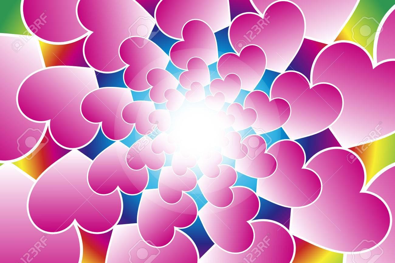 Background Material Wallpaper Heart Pattern Heart Love Love