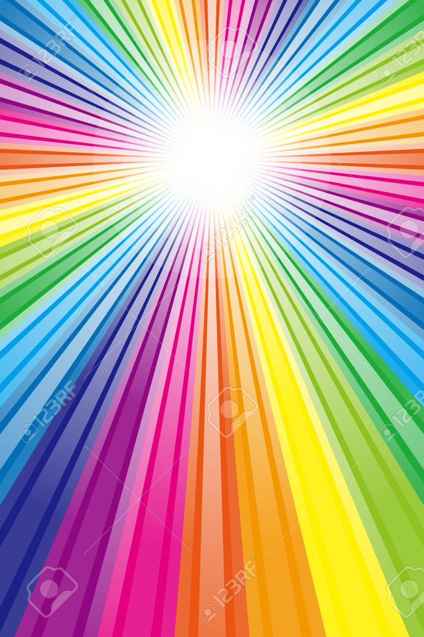 Tapete Material Regenbogen Regenbogen Farbe Farben Bunt
