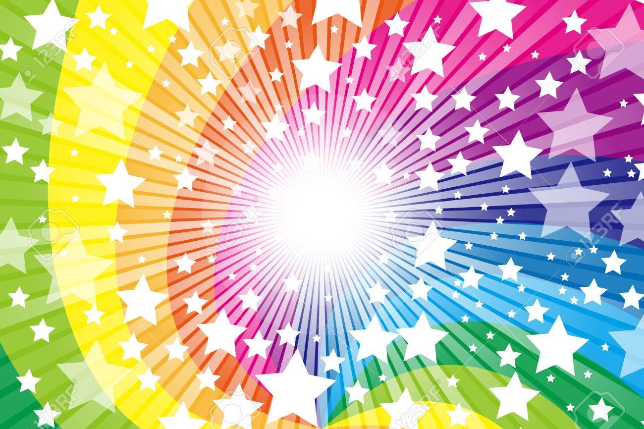 Rainbow Rainbow Cute Pattern Of Wallpaper Material Star