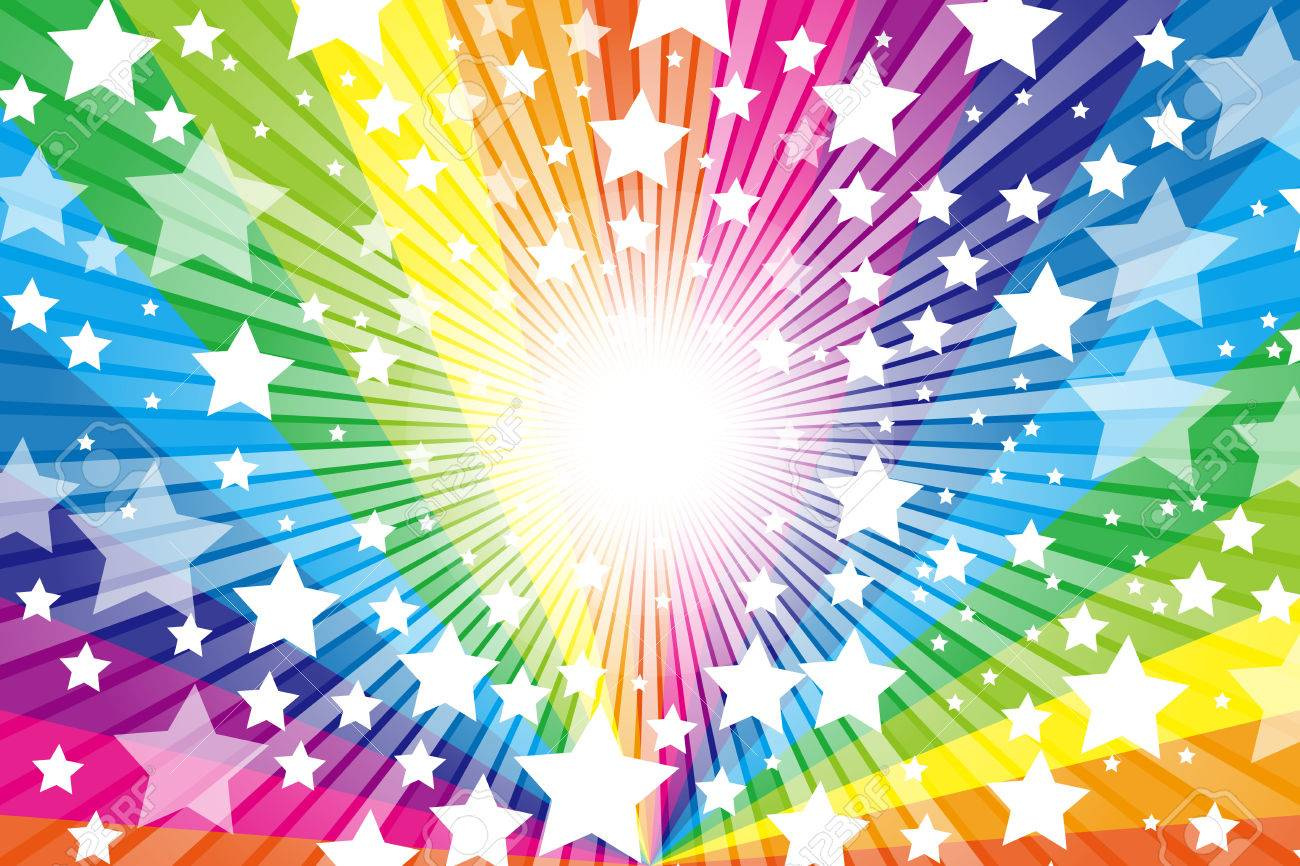 Rainbow, Rainbow, cute, pattern of wallpaper material, Star, Star, Stardust, Stardust, starry sky, glitter, shine a light, - 56812651