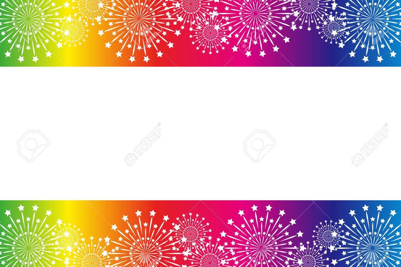 背景素材壁紙 花火 夏の祭 スターマイン 花火 夜の空 和風
