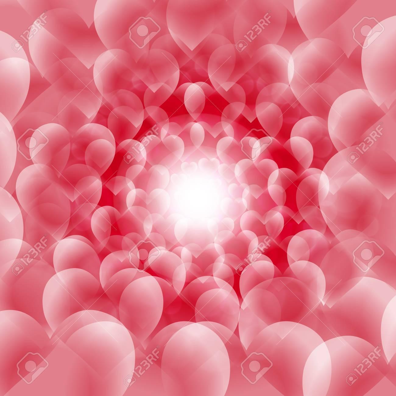 背景素材壁紙 ハート柄 バレンタインデー ホワイトデー 光 輝き