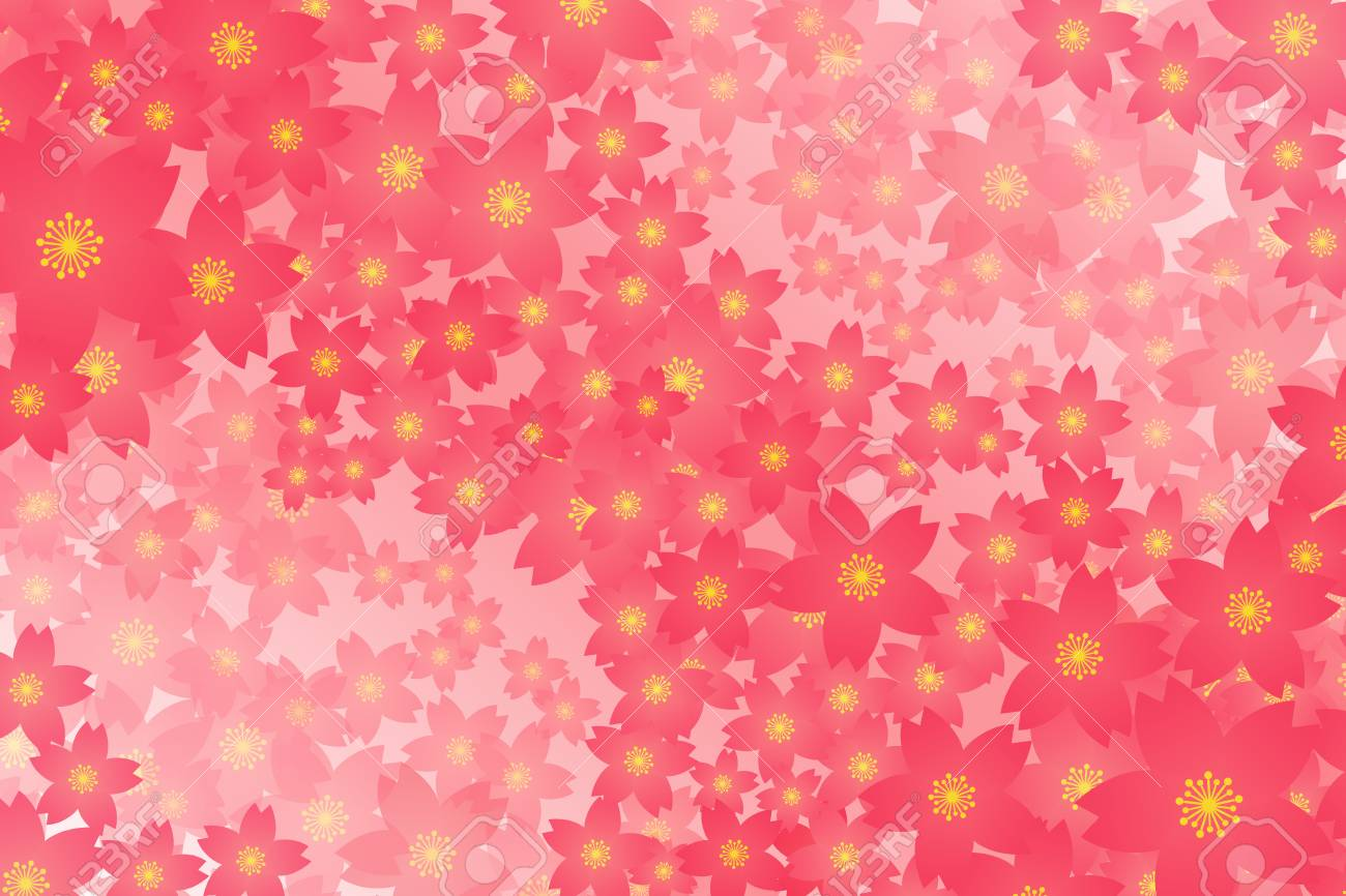 Tree Wallpaper Background Material Cherry Blossoms Cherry Blossom
