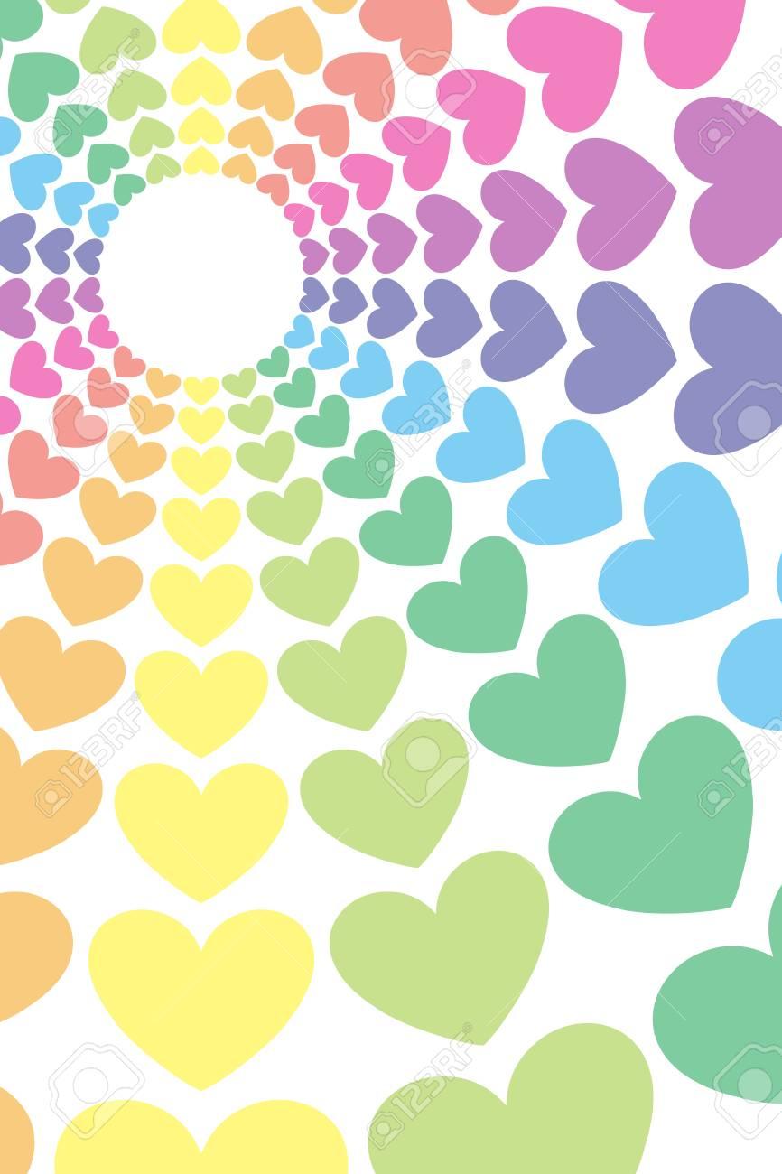 背景素材壁紙 ハート柄 ハート型 中央線 ラジアル 愛 愛 幸福