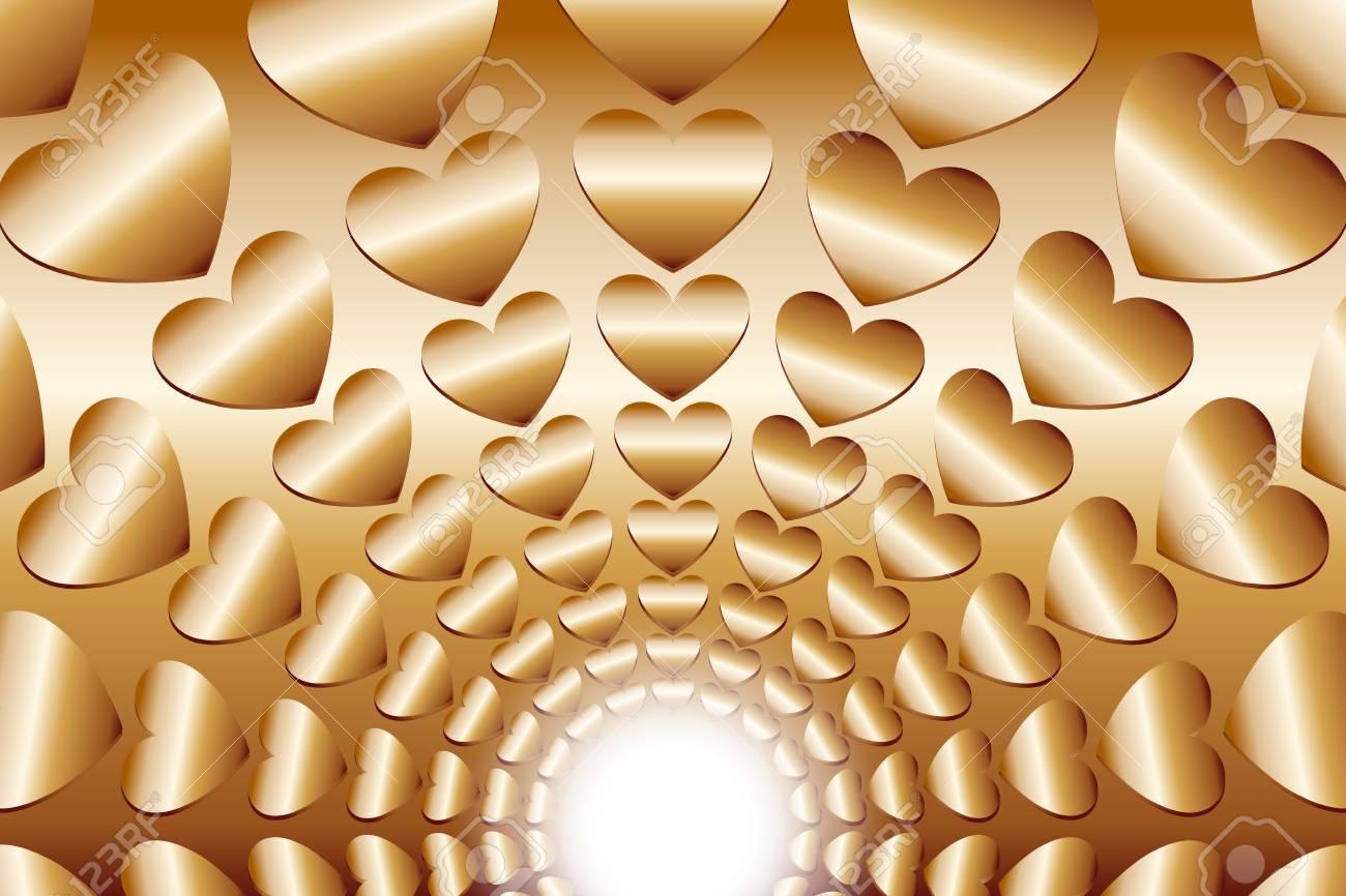 壁紙素材 集中的なライン 放射状 心 キラキラ 幸せな 希望 楽園