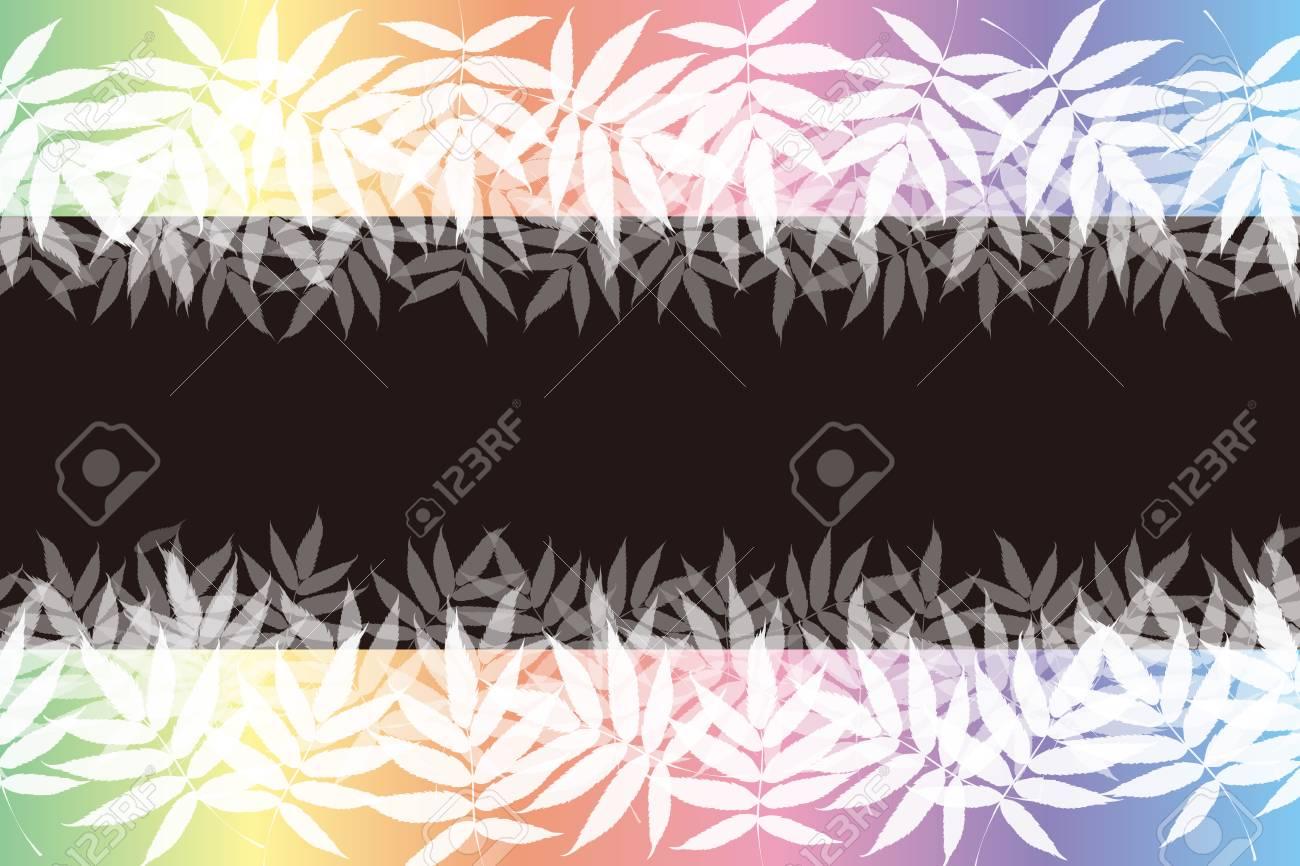 Background Material Frame Summer Leaves Bright Aoba Verdure