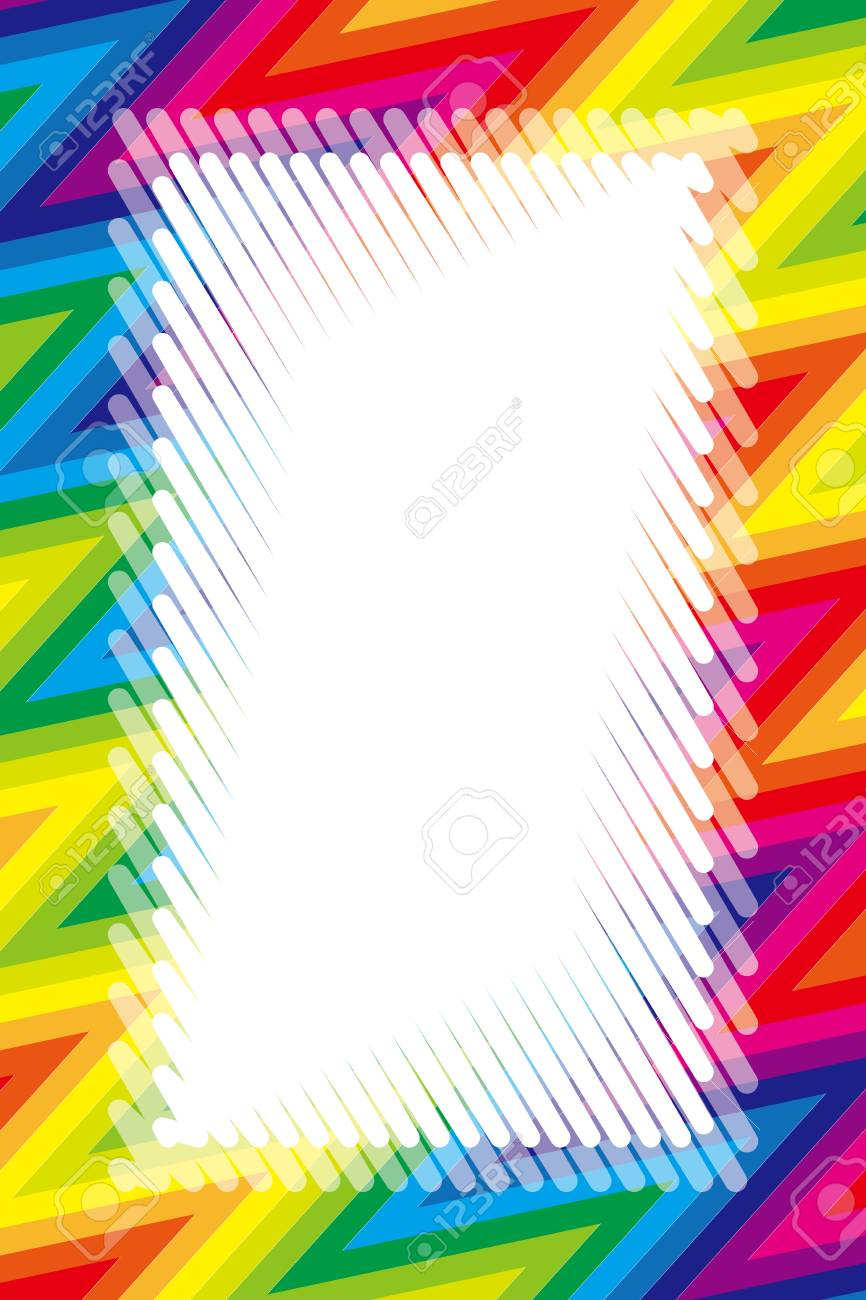 daac0d86fef8 Illustration background wallpaper, rainbow color, copy space, wave, frame,  jagged pattern