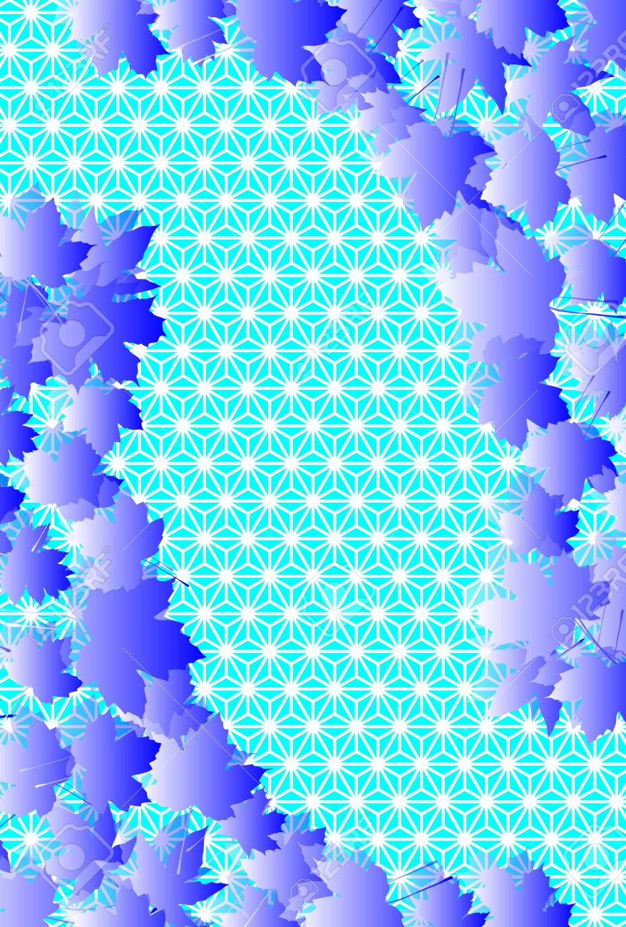 Japanese style background, Japanese traditional pattern, hemp leaf pattern, maple leaf, autumn leaves, autumn leaves image, maple, free material, free size - 132272646