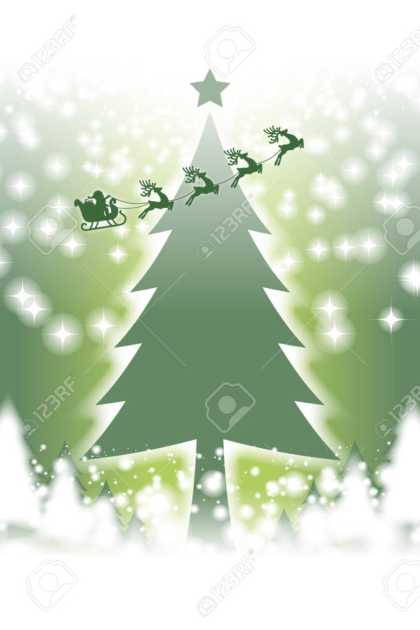 Christmas Card Message.Vector Color Illustration Christmas Card Message Space Winter
