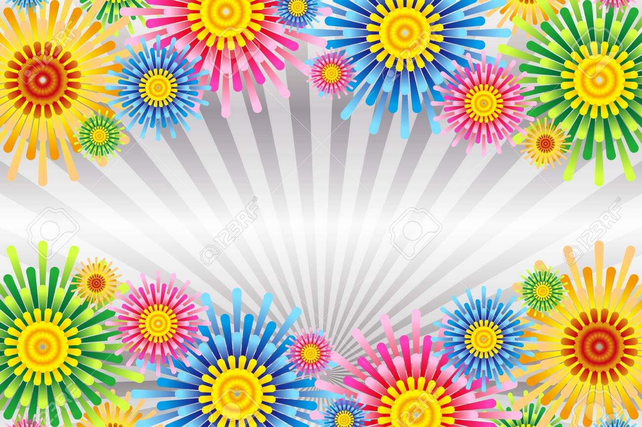 Vector illustration background wallpaper, colorful, concentrated line, effect line, radial, flower, flower, free material, free size, - 132653939