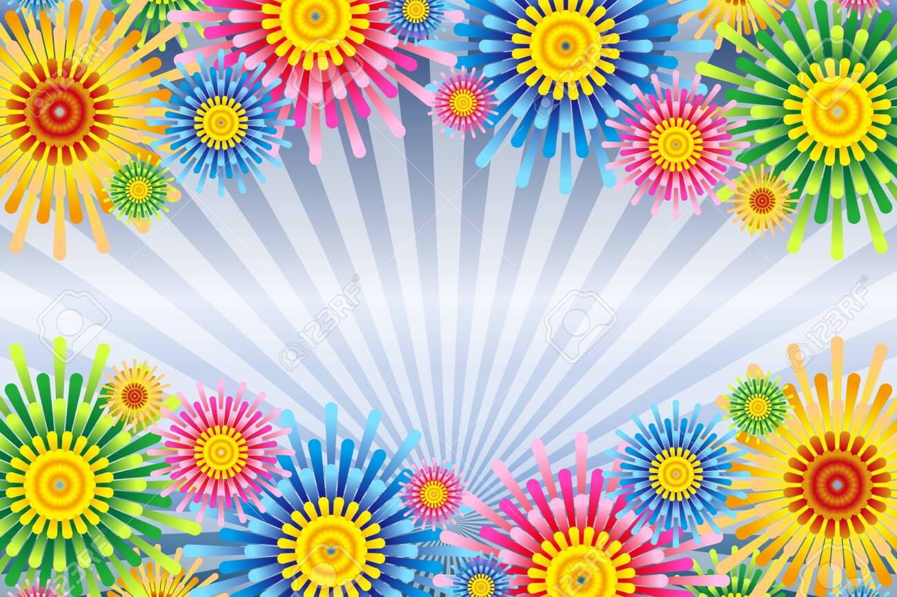 Vector illustration background wallpaper, colorful, concentrated line, effect line, radial, flower, flower, free material, free size, - 132653936