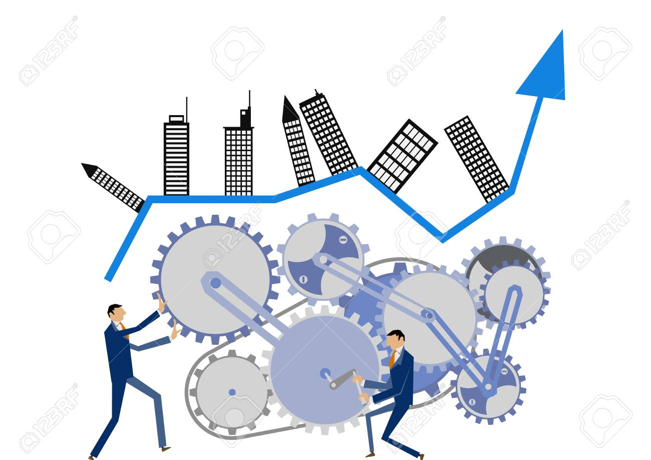 Gear and businessman clip art. Image of business. Business clip art. - 92780192
