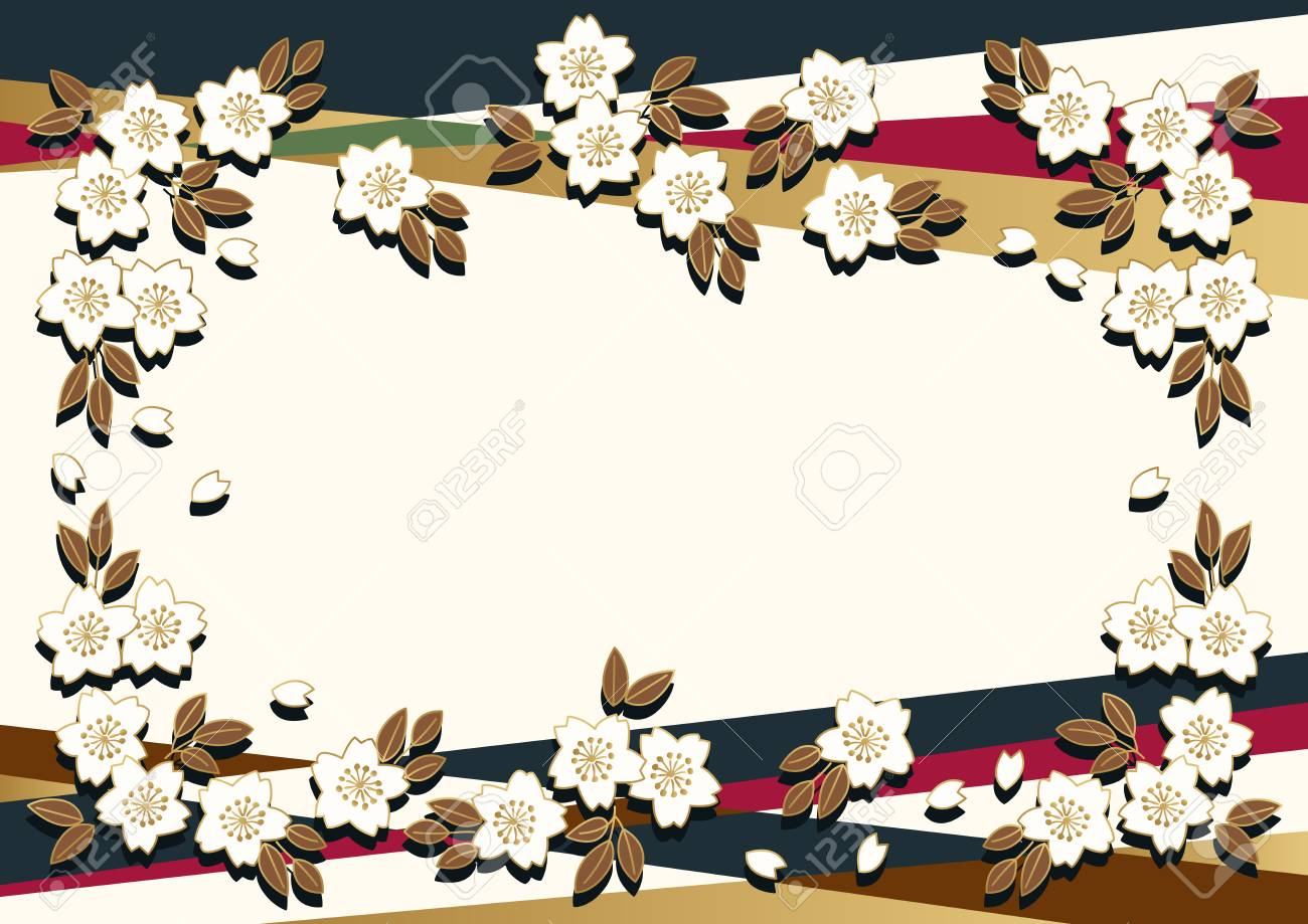 Cherry Blossom Background Material The Background Material Of Royalty Free Cliparts Vectors And Stock Illustration Image 92780211