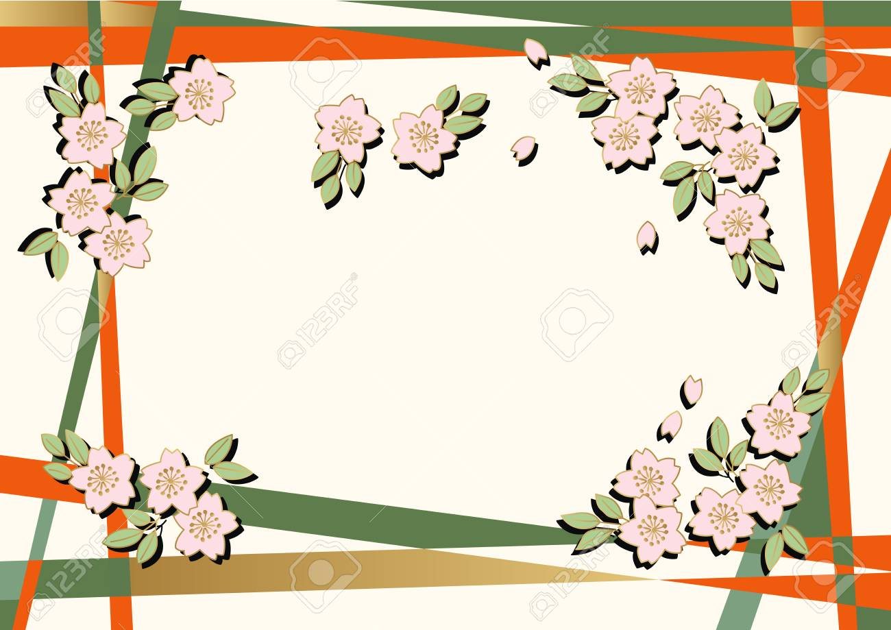 Cherry Blossom Background Material The Background Material Of Royalty Free Cliparts Vectors And Stock Illustration Image 92790642