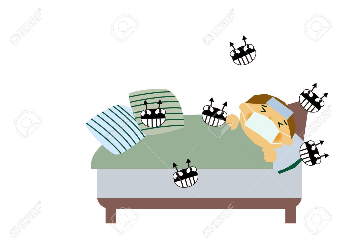 Image of viral disease  Image of influenza or cold  Illustration