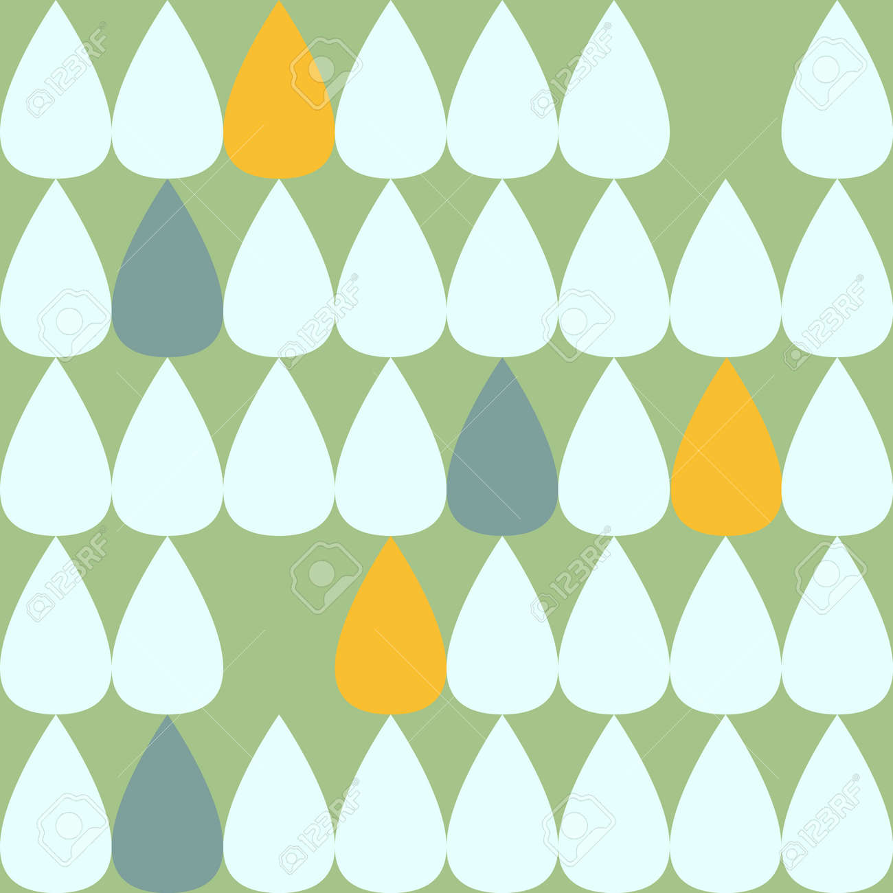 Drop pattern. Seamless pattern. Material for wallpaper and wrapping paper. Textile design. - 169172702