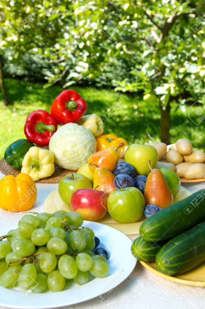 Group of different fruit and vegetables Stock Photo - 4047977
