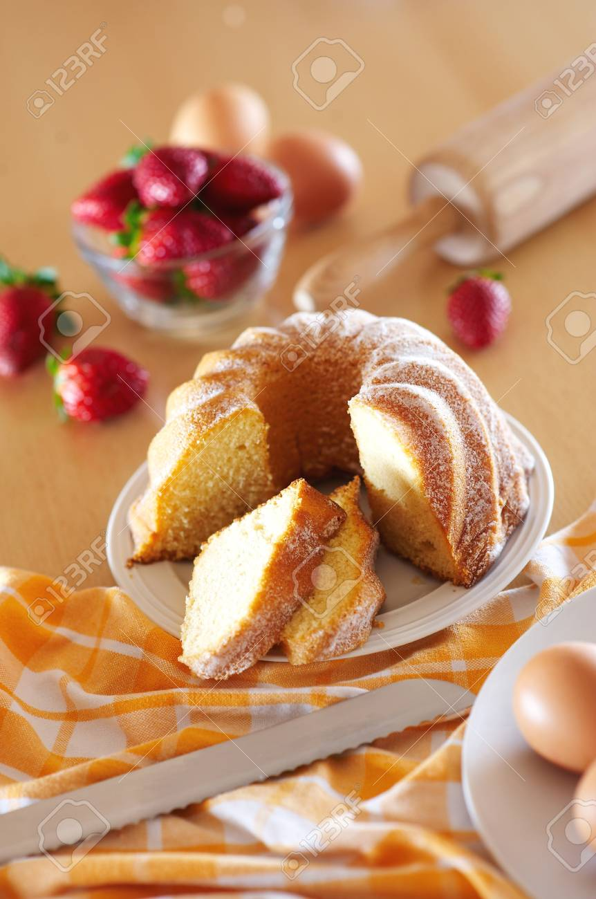 Fresh biscuit cake for meal Stock Photo - 4065086