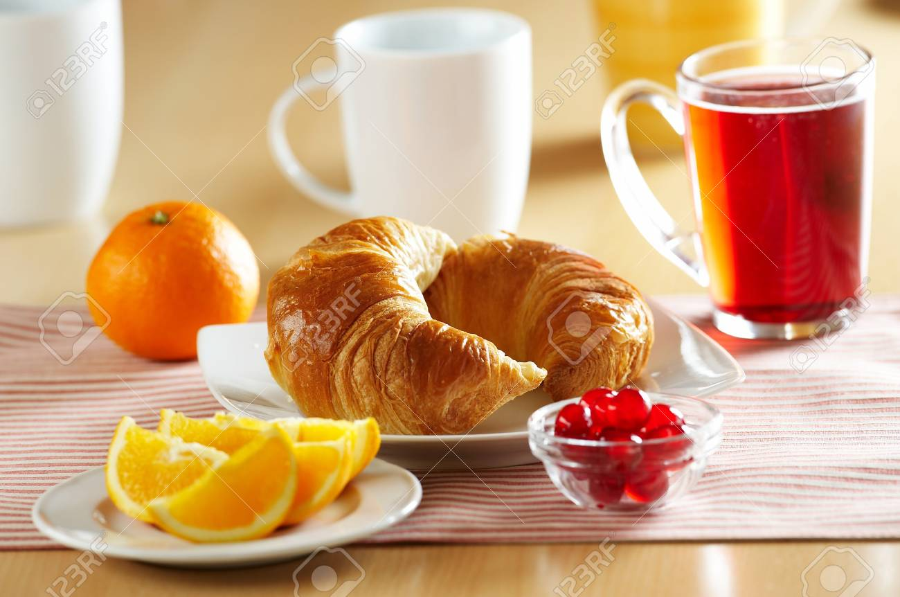 Fresh French croissant for breakfast Stock Photo - 4065262