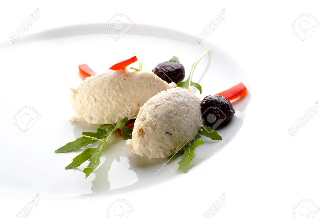 Fish paste with vegetable and black olives Stock Photo - 4065202
