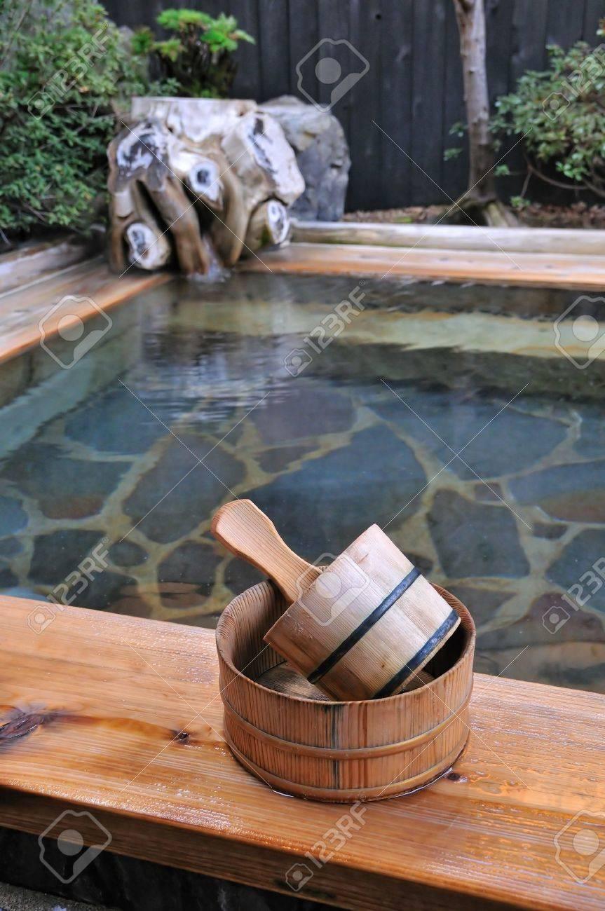 Japanese open air hot spa - 9888054