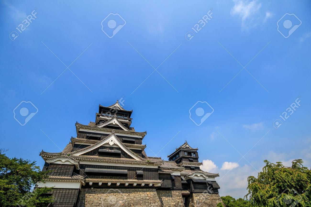 Kumamoto castle in Kumamoto, Japan. - 57541632