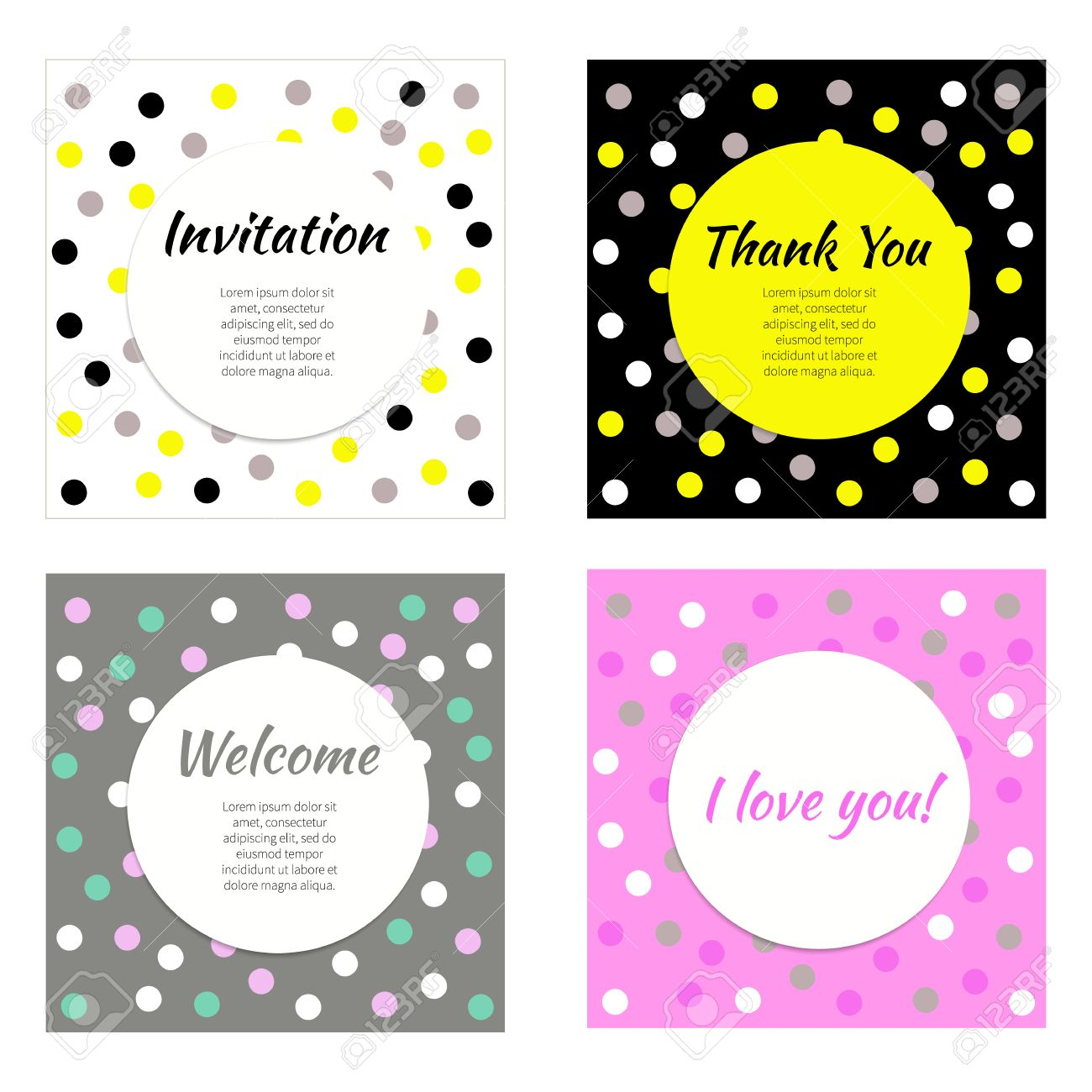 Invitation greeting cards vector set of frames banners postcards invitation greeting cards vector set of frames banners postcards flyers stopboris Images