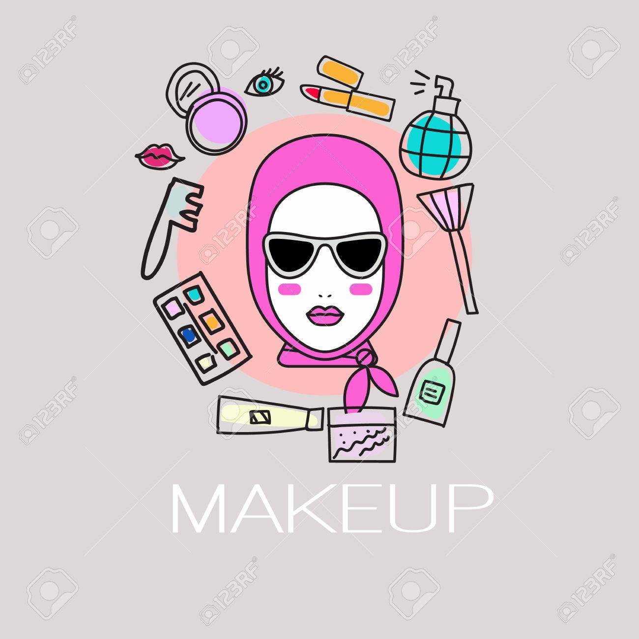 Flyer Sale On Cosmetics Icon Services Of Stylist And Makeup Artist Logo Trendy Salon