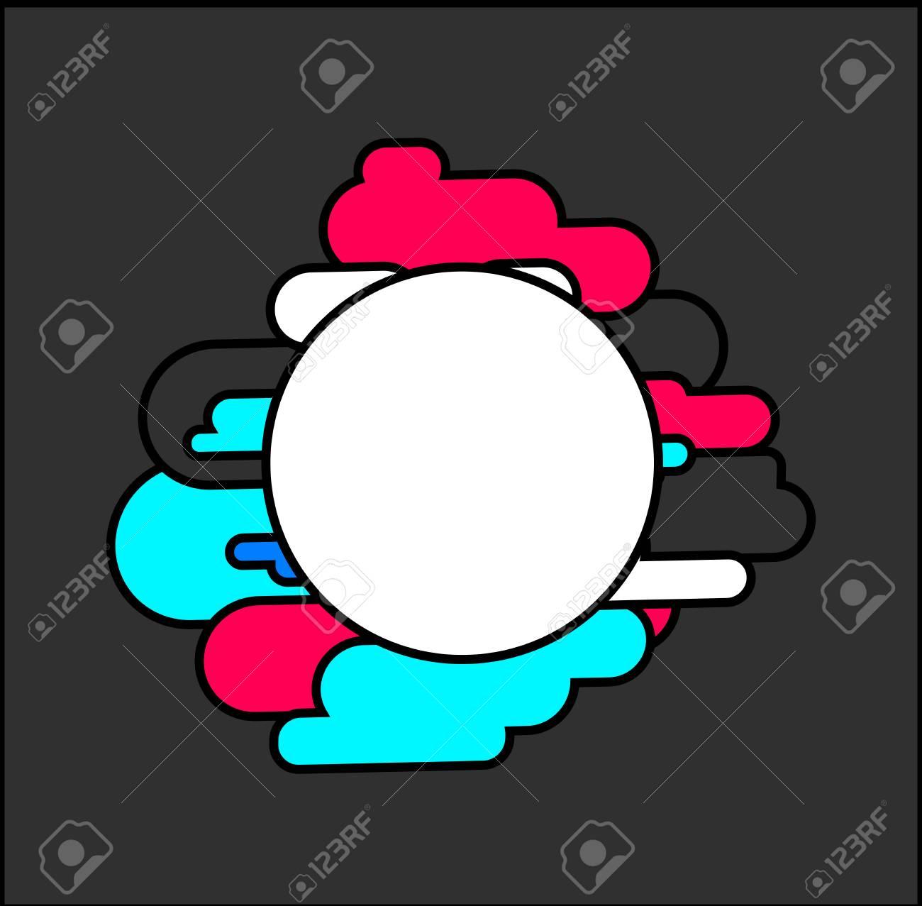 Marco Hipster. Círculo Y Línea Colorida Dinámica. Ilustración ...