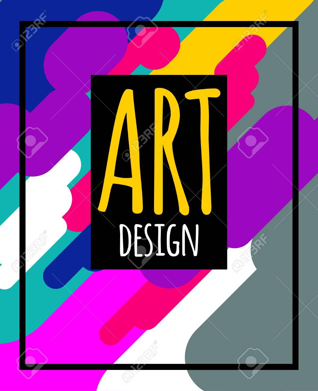 Modern Hipster Art Graphics Dynamic Flyer Geometric Flat Bright Background Element For Design