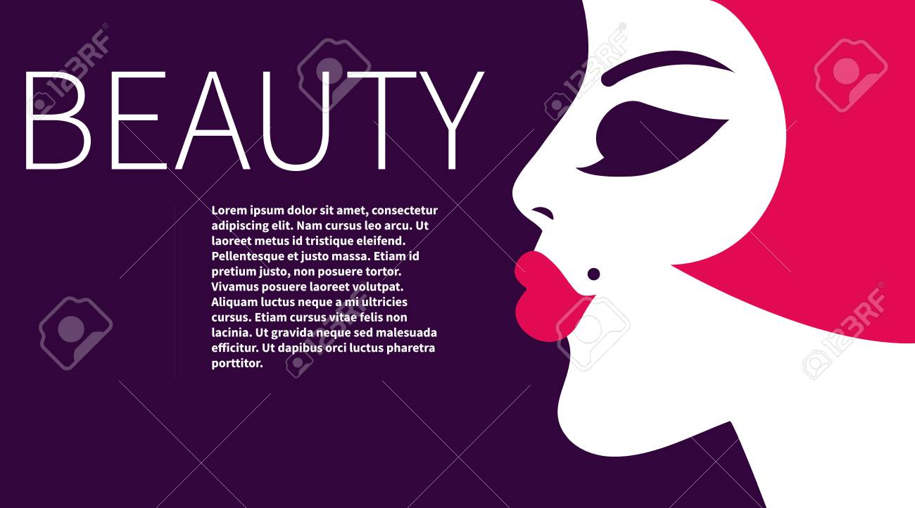 Leaflet With Beautiful. Business Card For Makeup Artist. Card ...