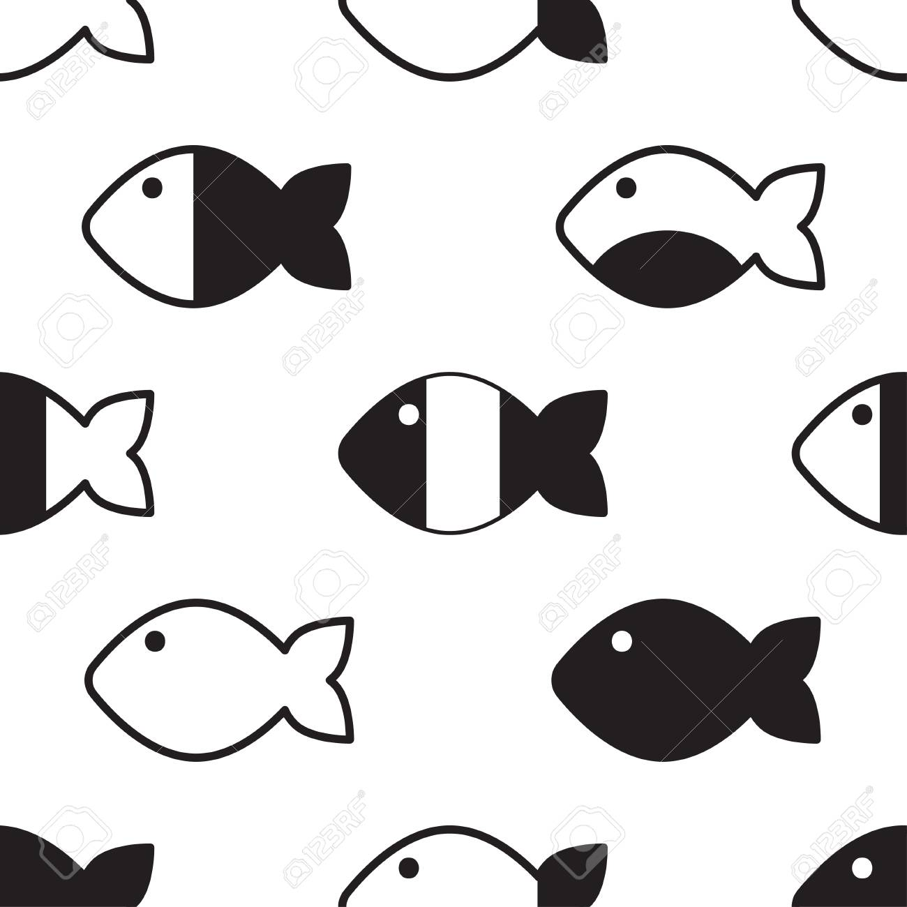 image relating to Fish Pattern Printable named Seamless behavior ornamental summary fish, vector fish history,..