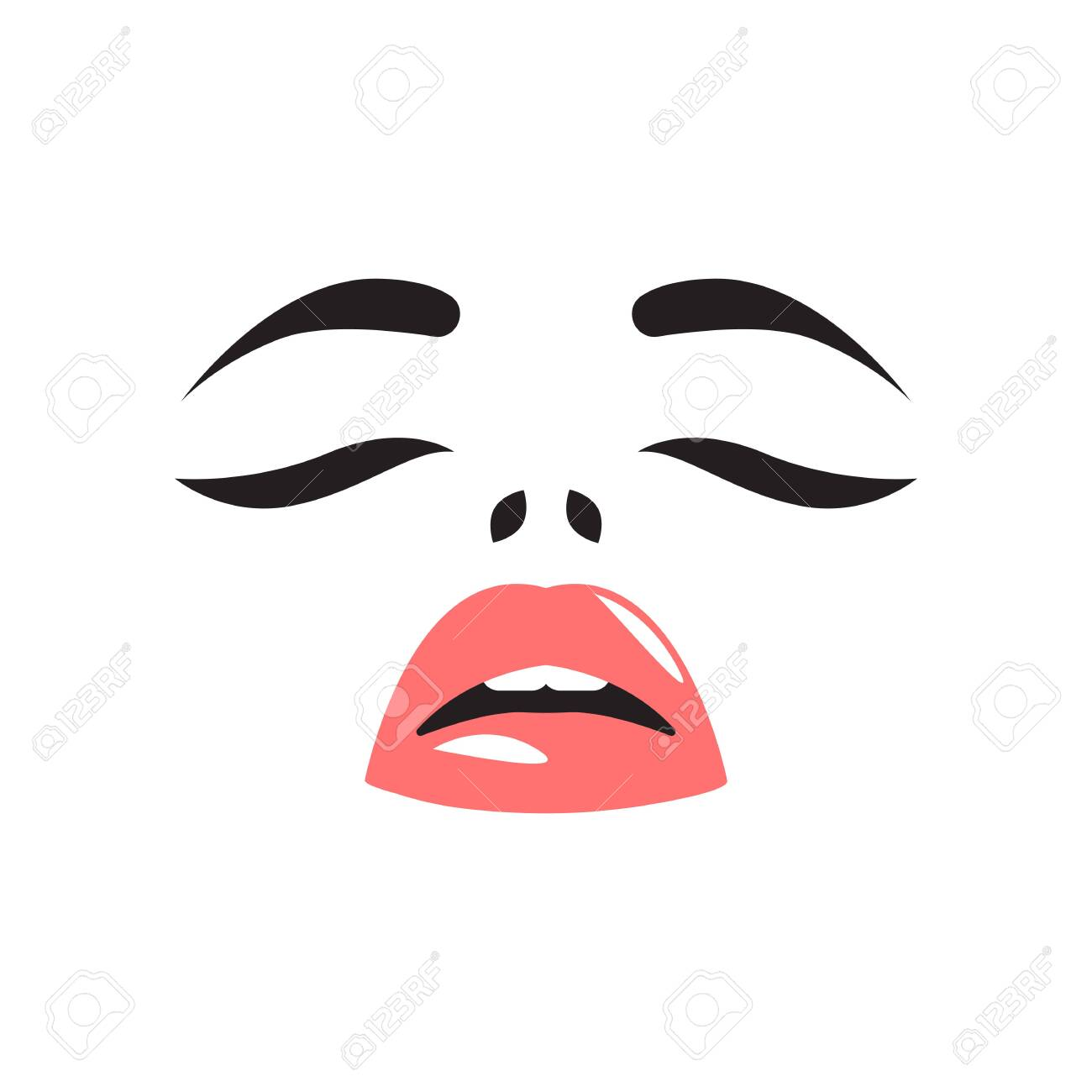 vector glamour sensual girl - 142723216