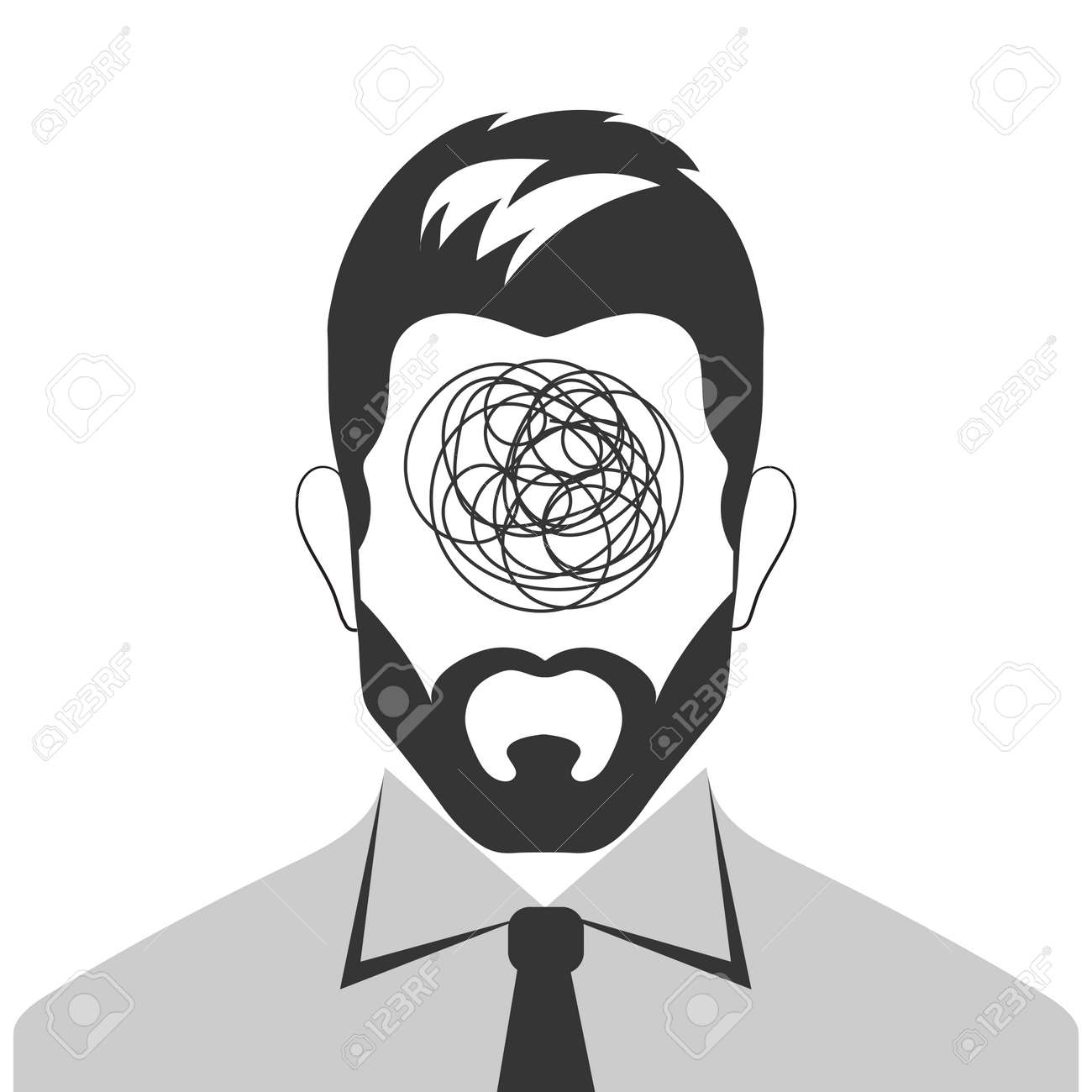 Panic attack concept. Man with problems in business - 161245929