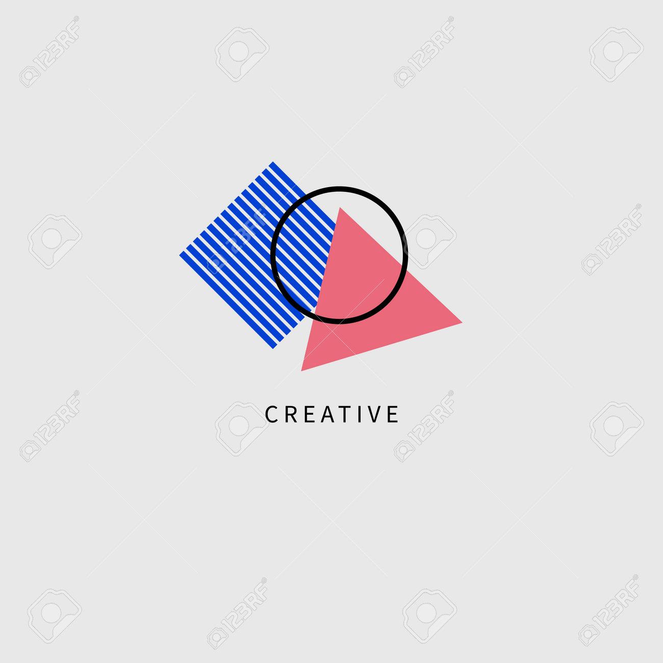 Creative geometric logo for advertising agency or brand - 161245959