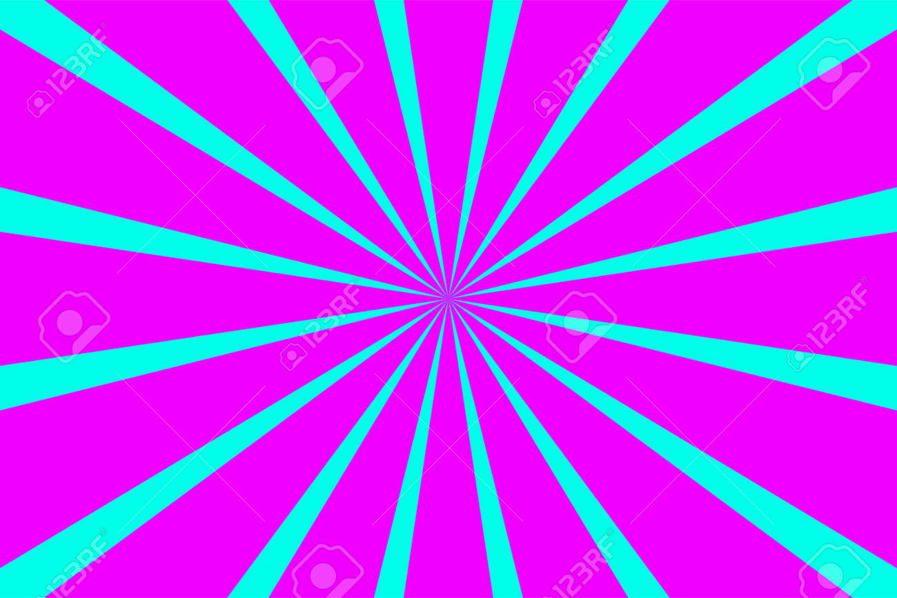 Pop art banner with rays. Explosion poster. Comic pattern with sunburst - 161245960