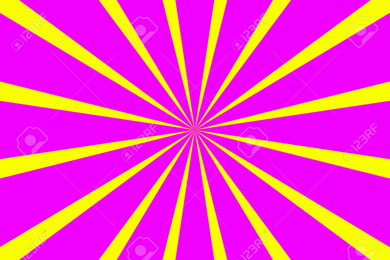 Pop art banner with rays. Explosion poster. Comic pattern with sunburst - 167305070