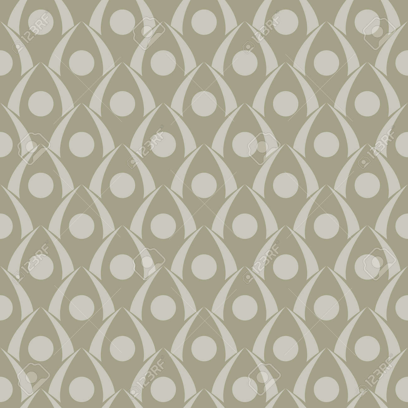 Seamless geometric pattern in art deco style - 167305079