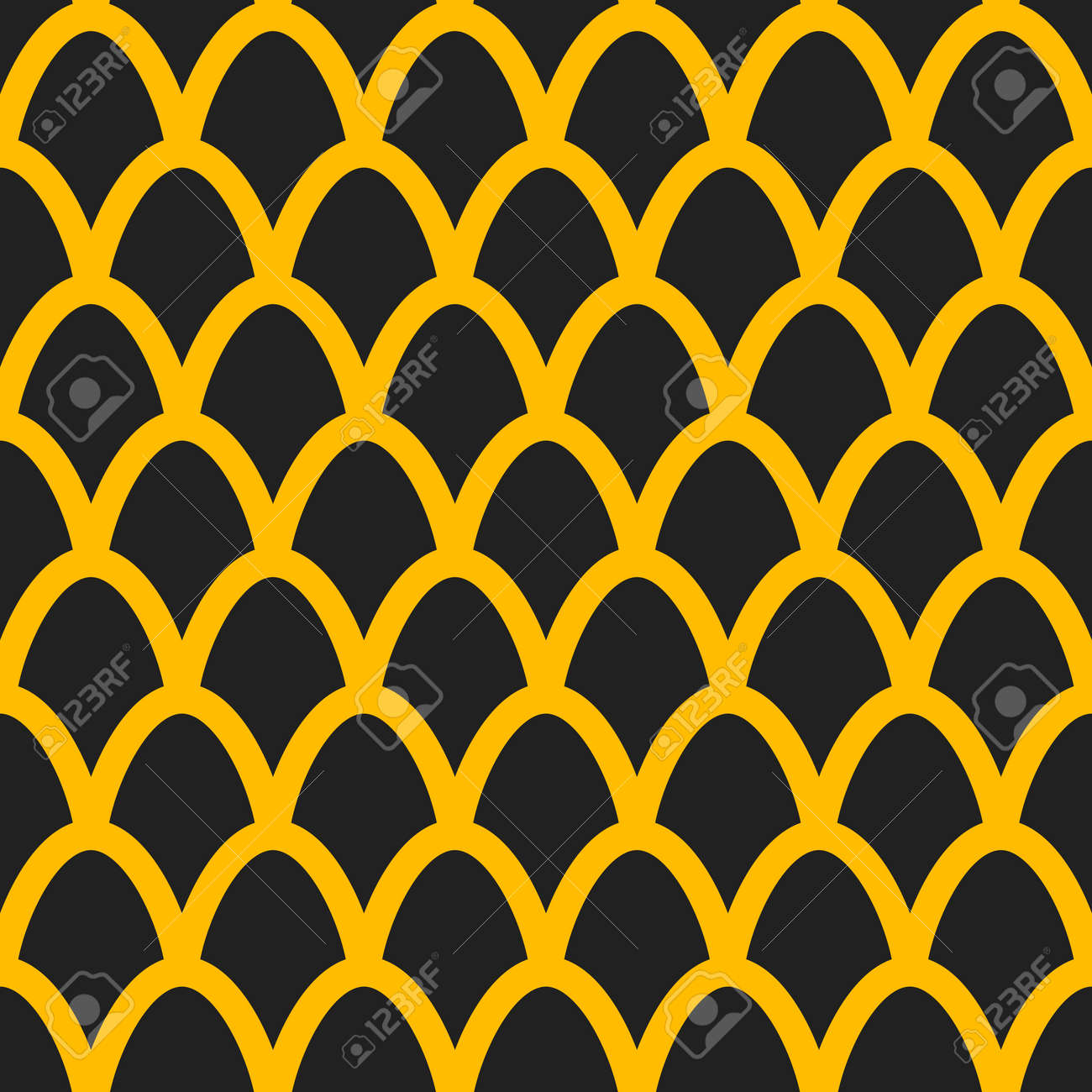 Fish scales seamless pattern. Mermaid tail background - 167305253