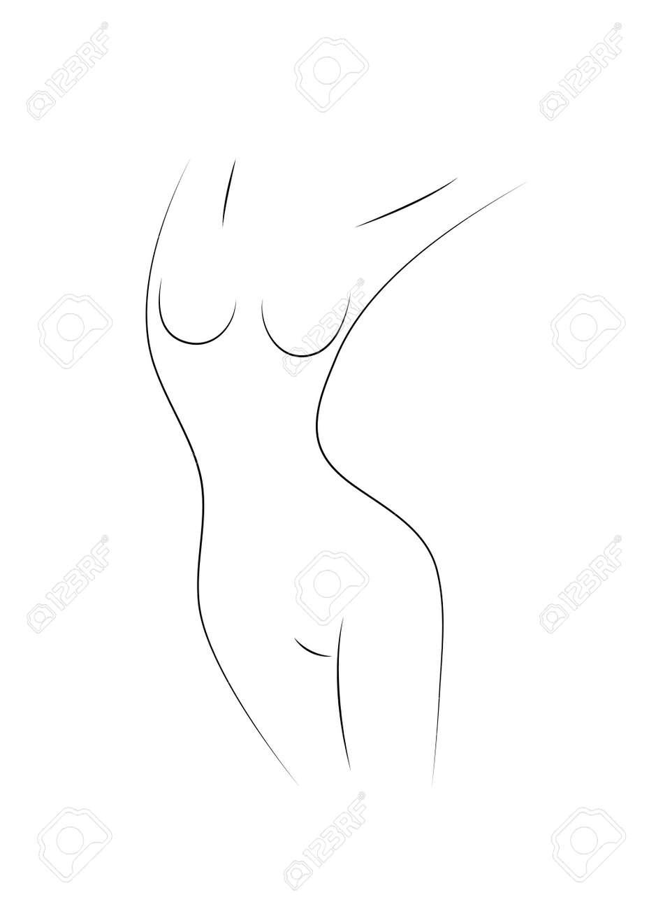 Beautiful female body symbol. Plastic surgery, liposuction - 171218304