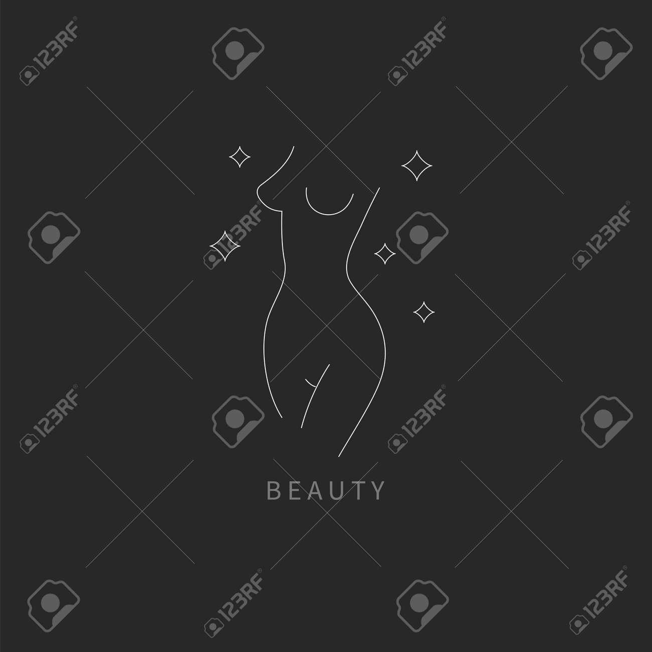 Beautiful female body symbol. Plastic surgery, liposuction - 171218349