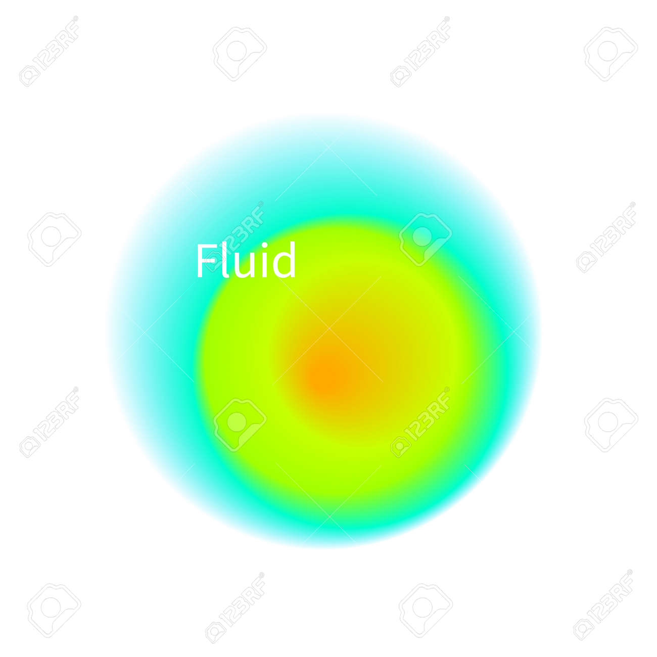 Blurry abstract round frame. Futuristic circle, fluid - 171218366