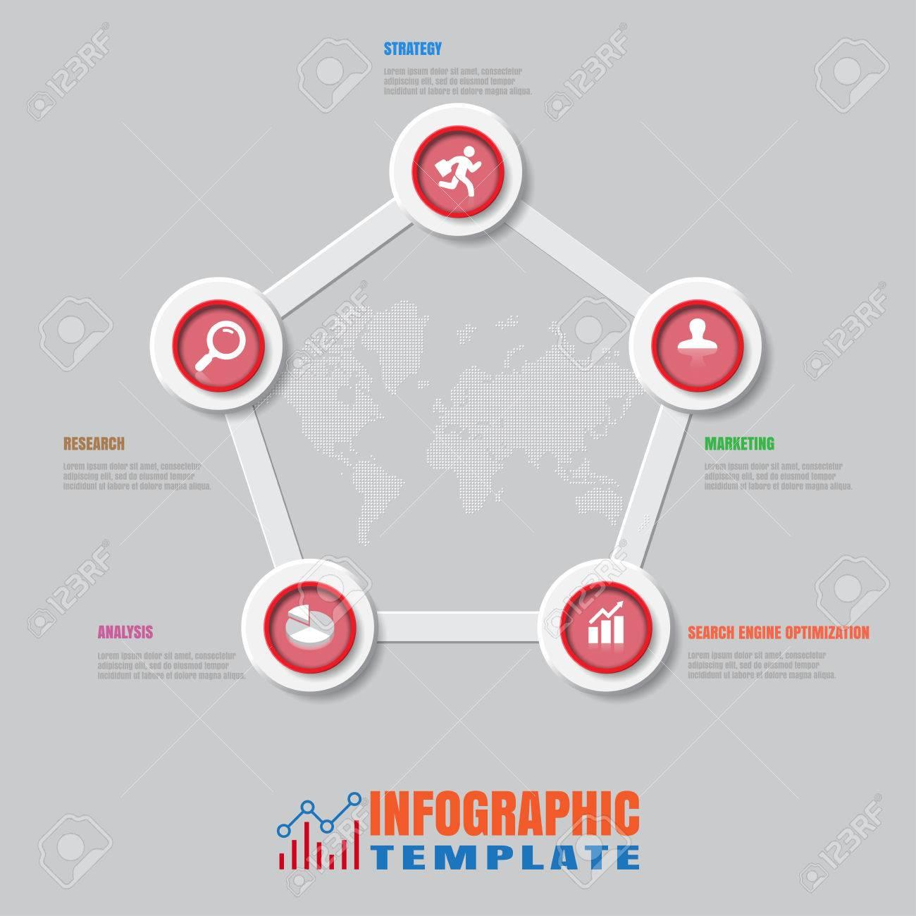 Plantilla De Diseño, Plantilla De Proceso De Infografía Moderna ...