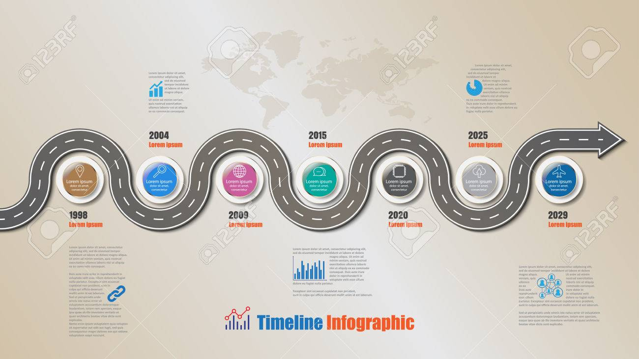 design template road map timeline infographic vector illustration stock vector 80872035