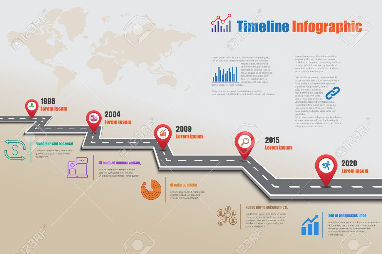 Design Template Road Map Timeline Infographic Can Be Used For - Timeline website template
